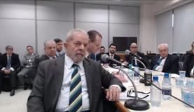 O ex-presidente Luiz Inácio Lula da Silva presta depoimento ao juiz Sérgio MoroReprodução/ Justiça Federal no Paraná