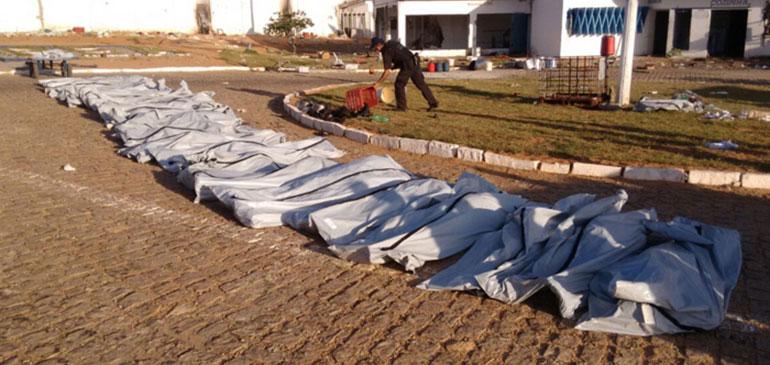 O Estado divulgou que o número de mortos na ocorrência foi de 26 detentos (Foto: Divulgação PM).