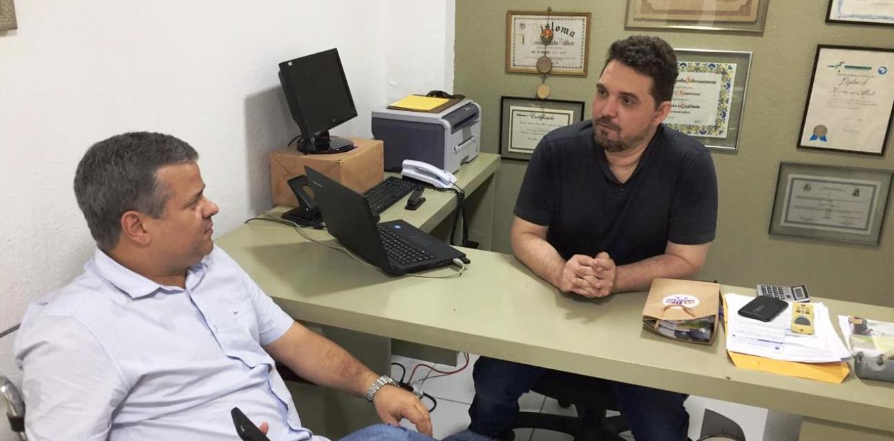 Júlio César Câmara visitou o jornal O Mossoroense como parte da agenda em Mossoró