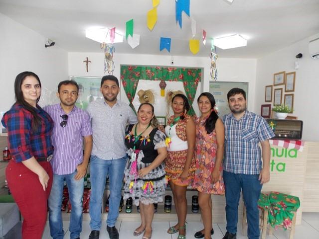 Equipe Fórmula Certa: Patrícia Angélica, Alberto Mattos, Coordenador de Cultura Joaby Figueiredo, Lurdes Neta, Cristina, Monary, e Fabricio Tavares.