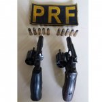 PRF prende dois homens armados e um foragido em fiscalizações no RN