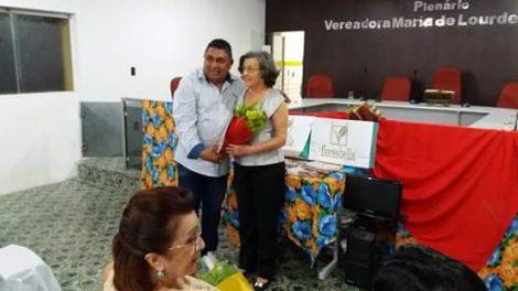 Educadora e Ex Vice Prefeita Alayde Fernandes Lopes recebe homenagem da Revista KACTUS em Afonso Bezerra RN.