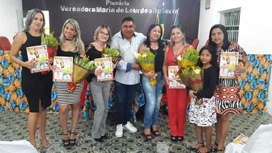 Milagres/Tereza Luiza/Marcia Braga/Vitória Dantas/Alice e com a Vereadora Monara Leila no Lançamento da Revista KACTUS em Afonso Bezerra RN.