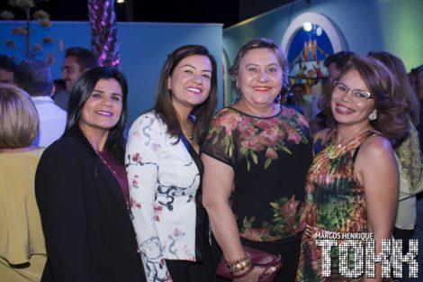 Vereadoras Elizângela Albano/Fabielle Bezerra/Educadora Linduina de Sá Leitão e a Secretária de Educação Shirley Araújo, de Assú.