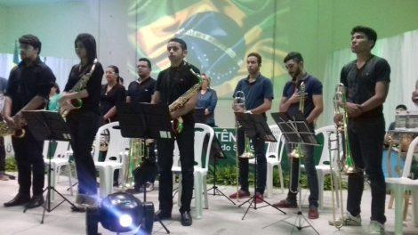 A Filarmônica Cristovam Dantas em Conserto na IX Conferência de Assistência Social em Assú.