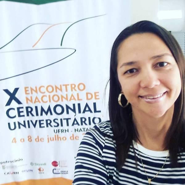 Toda fina a querida Rosane Gurgel participou na ultima semana do X Encontro Nacional de Cerimonial Universitário na nossa capital Natal. Arrasou!