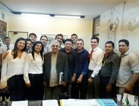 Gustavo Montenegro Soares e o Deputado George Soares Presidente do Legislativo Walace Silva e demais edis com o diretor do DER Jorge Fraxe viabilizam melhorias para o Assú.