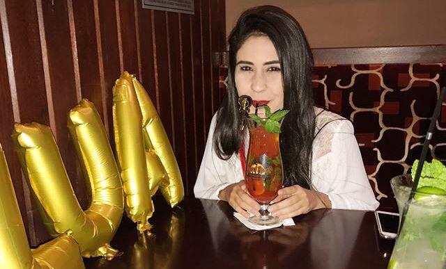 A linda Luana Vieira, comemorando seu Aniversário em Madrid, Espanha.