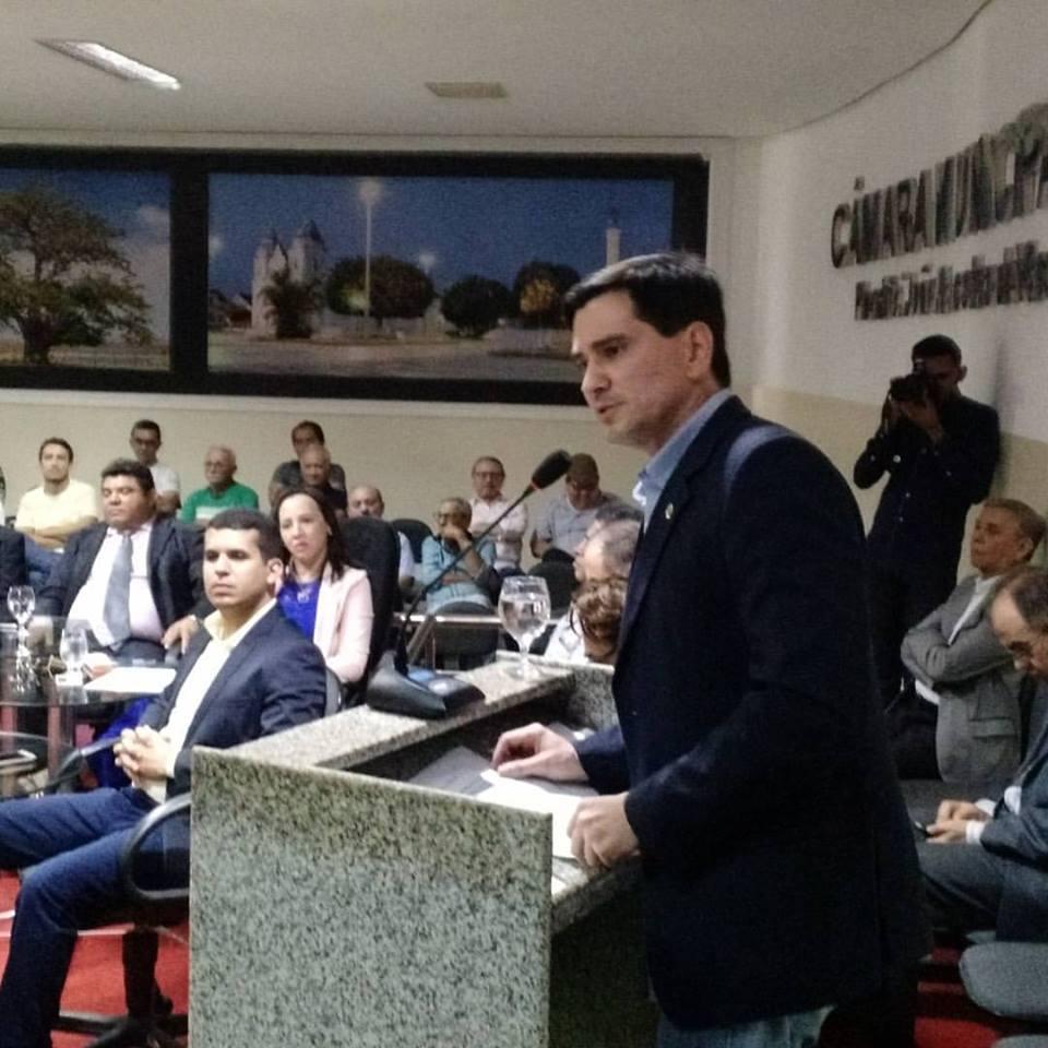 Deputado George Soares/RN acontece ao lado do Prefeito Gustavo Montenegro Soares e a Delegada Sheila Freitas, Presidente do Legislativo João Walace e demais autoridades em Audiência Pública em Assú.