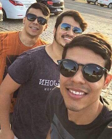 Jackson Henrique, Irineu Neto e Franklin Rebouças curtindo os esquentas da Finecap.