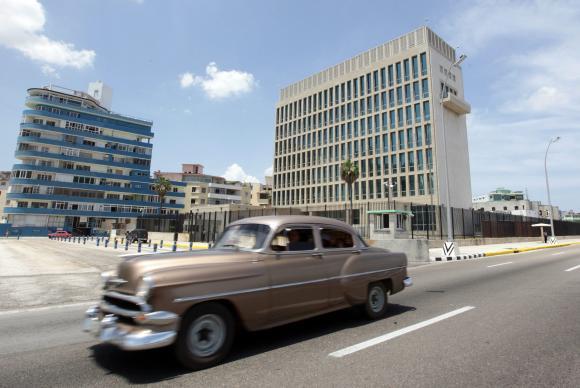 Fachada da Embaixada dos EUA em HavanaAgência Lusa/EPA/Ernesto Mastrascusa/Arquivo