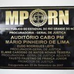 Policial Militar recebe homenagem do Ministério Público do RN