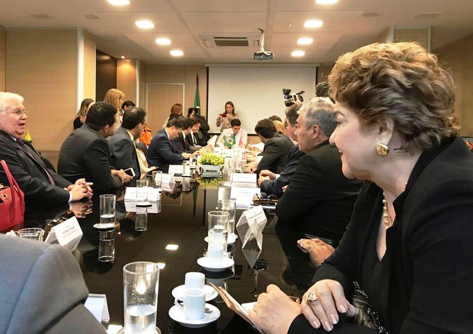 Vereadora Sandra na audiência com o ministro da Integração Nacional, nesta quarta-feira.