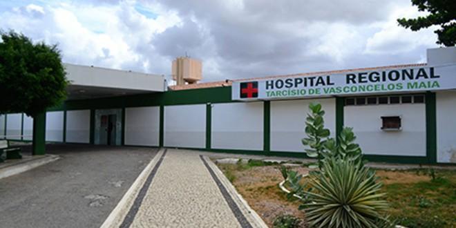 Hospital Regional Tarcísio Maia tem uma das alas atingida por fogo