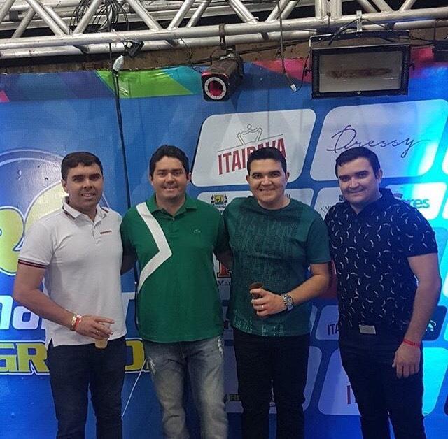 Os responsáveis pelo Camarote Rio Grande, sucesso na Finecap. Os empresários Gomes Filho, Ewerton Filgueira, Rômulo Regis e Paulo Roberto.