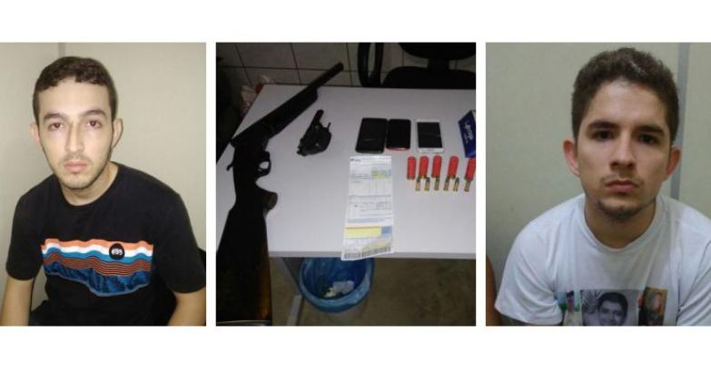 Polícia prende foragido e irmão com escopeta e revólver em Mossoró
