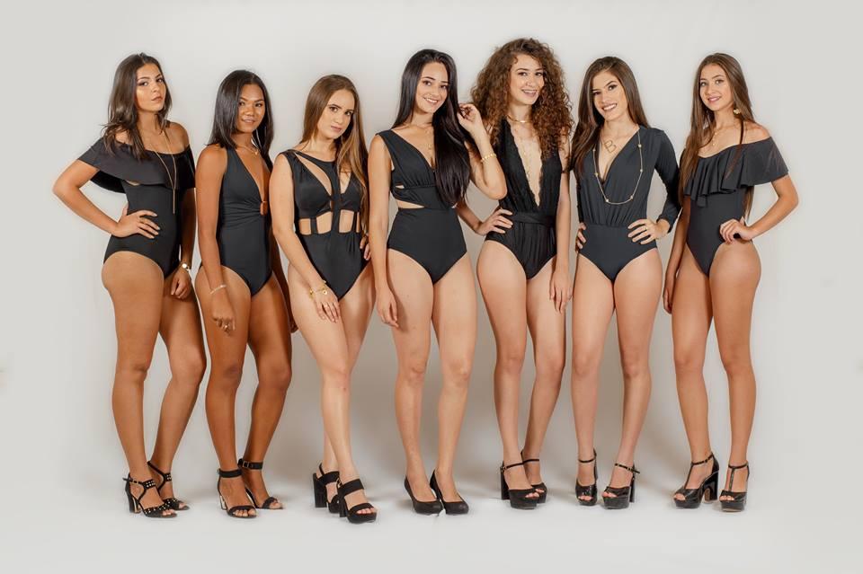 Candidatas na disputa pelo título de Miss Rafael Fernandes/RN 2017.