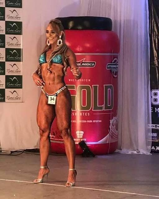 A atleta Andrezza Araújo, de Pau dos Ferros/RN, campeã na categoria Wellness.