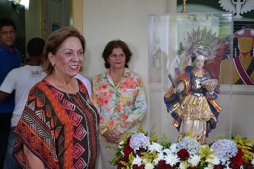 A peregrinação faz parte da divulgação da Festa de Santa Luzia 2017, a ser realizada de 03 a 13 de dezembro.
