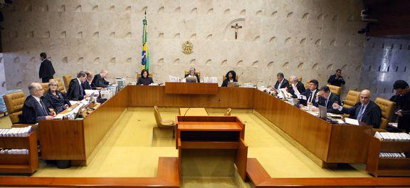 Brasília - Sessão do Supremo Tribunal Federal (STF) para decidir se parlamentares podem ser afastados do mandato por meio decisões cautelares da Corte e se as medidas podem ser revistas pelo Congresso (Nelson Jr./SCO/STF )