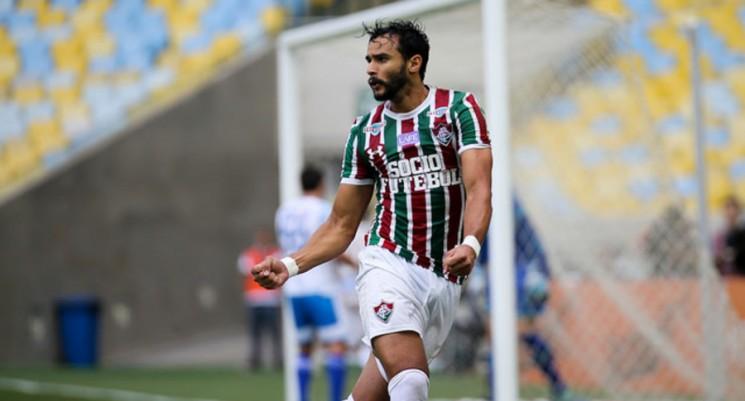 Henrique Dourado marcou o 15º gol dele no Brasileiro e garantiu o triunfo do Fluminense. (Foto: Fluminense/Divulgação)