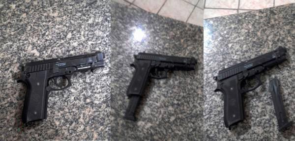 PM apreende menores com pistola de brinquedo no bairro Belo Horizonte
