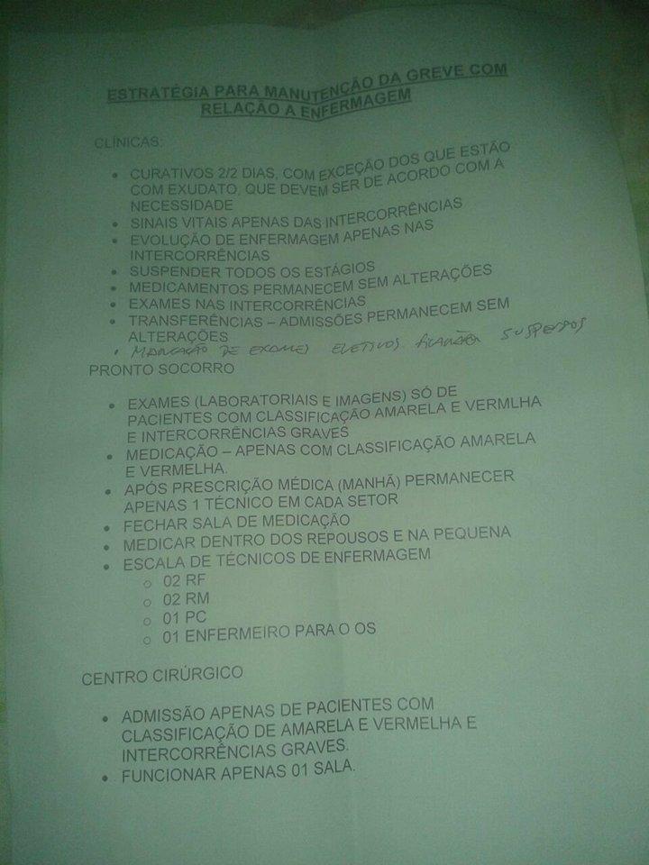 Lista de medidas a serem implementadas pela equipe de enfermagem do HRTM a partir do dia 20/12