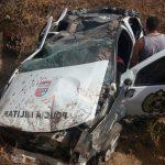 Um policial morre e outro fica ferido em colisão entre viatura e caminhão na RN-079
