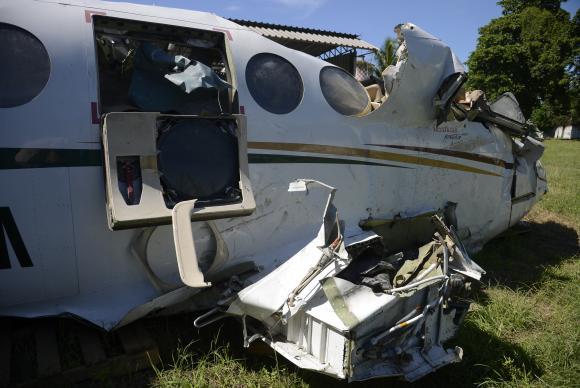 Destroços da aeronave que caiu no mar de Paraty e matou o ministro do STF Teori Zavascki e mais quatro pessoas em 19 de janeiro de 2017 (Foto: Tomaz Silva/Agência Brasil).