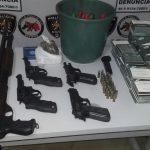 Polícia recupera armas roubadas no Centro de Treinamento de Vigilantes