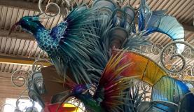 Detalhe de uma alegoria que a Beija-Flor levará este ano para a avenidaCristina Índio do Brasil/Agência Brasil
