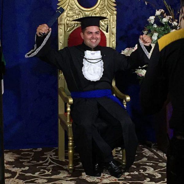 O mais novo Engenheiro Civil, Sávio Diógenes, na sua colação de grau ontem (07/02). Parabéns e muito sucesso!