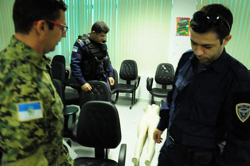 Guarda Municipal passa por treinamento para isolamento e preservação de local de crime