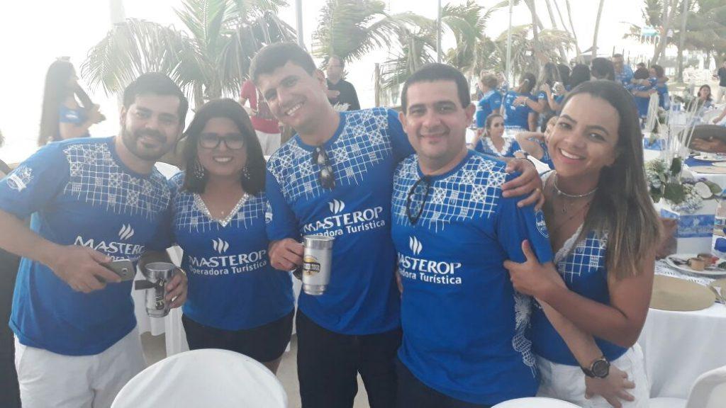 Agentes de viagens do estado da Paraíba na Feijoada Masterop em Maceió.