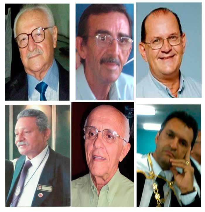 Elder, Filemom, Geraldo, Wilson, Jeosafa e Ricardo.