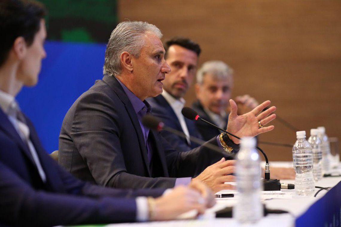 Tite já havia declarado que tinha alguns jogadores definidos, entre eles, Marcelo, Gabriel Jesus e Neymar.  Foto: Lucas Figueiredo.