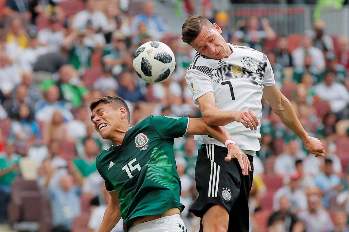 Jogo Alemanha contra México, pelo Grupo F da Copa do Mundo 2018, em Moscou