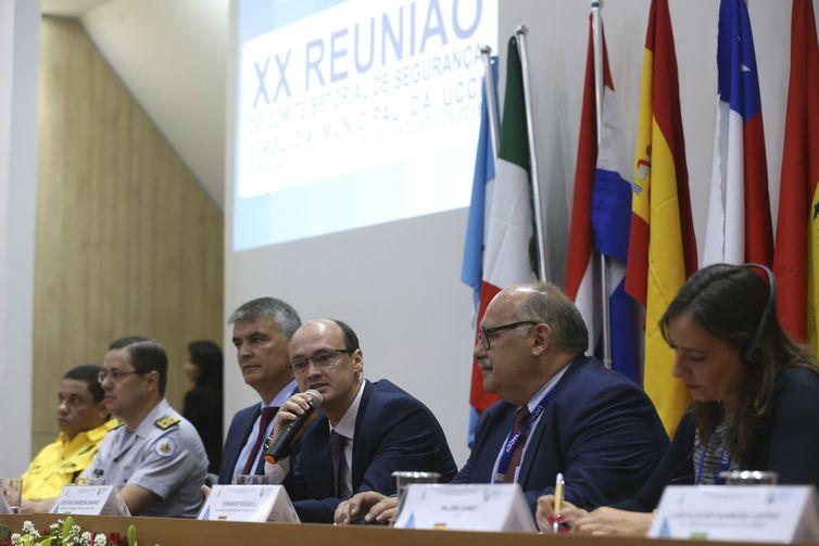 Secretário de Segurança do DF fala na abertura da 20ª Reunião do Comitê Setorial de Segurança e Polícia Municipal (Antonio Cruz/Agência Brasil)