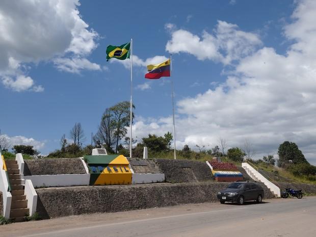 Fronteira de Roraima com Venezuela.