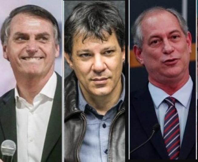 Bolsonaro, Haddad e Ciro