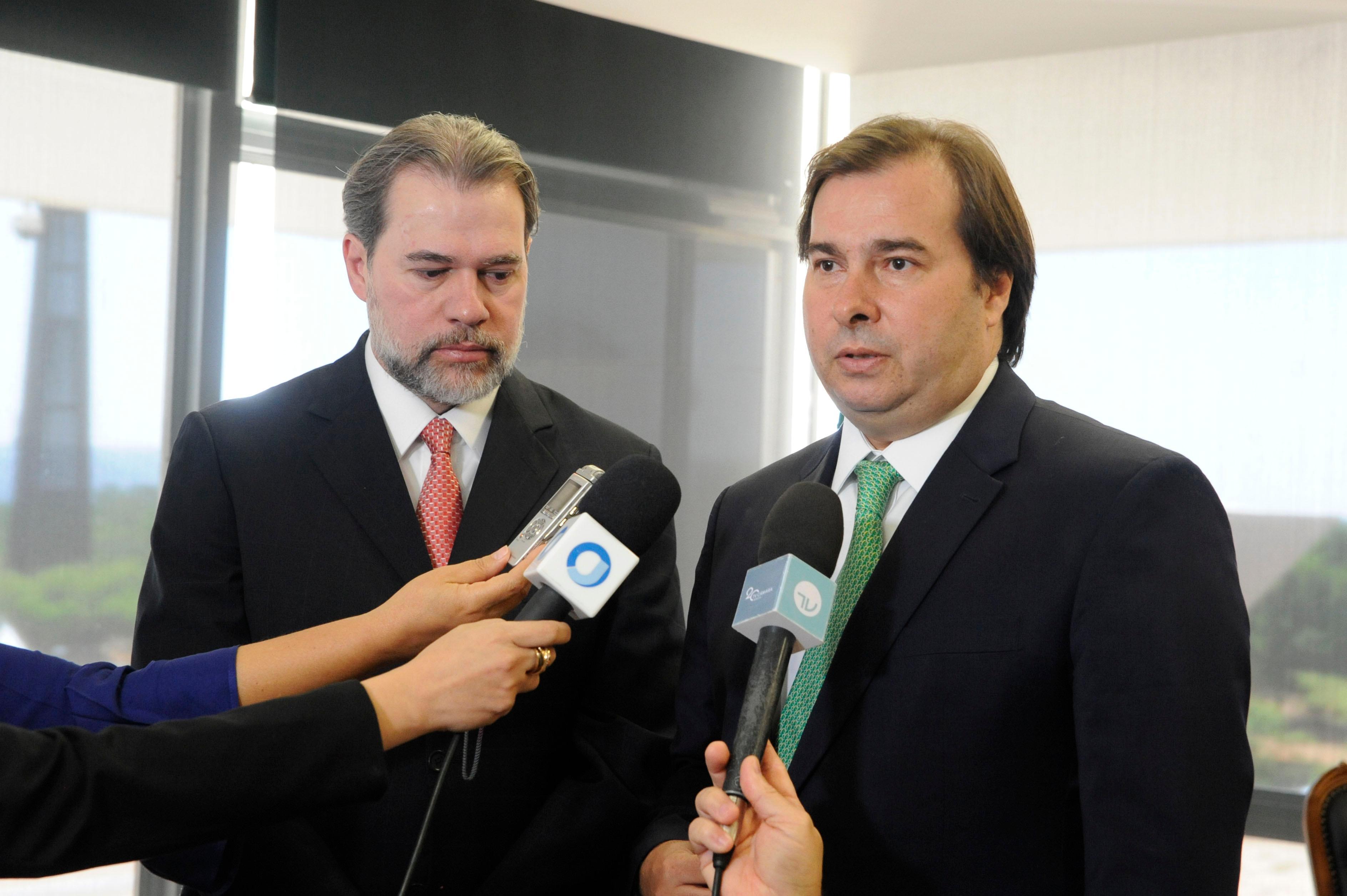 Rodrigo Maia e Dias Toffoli