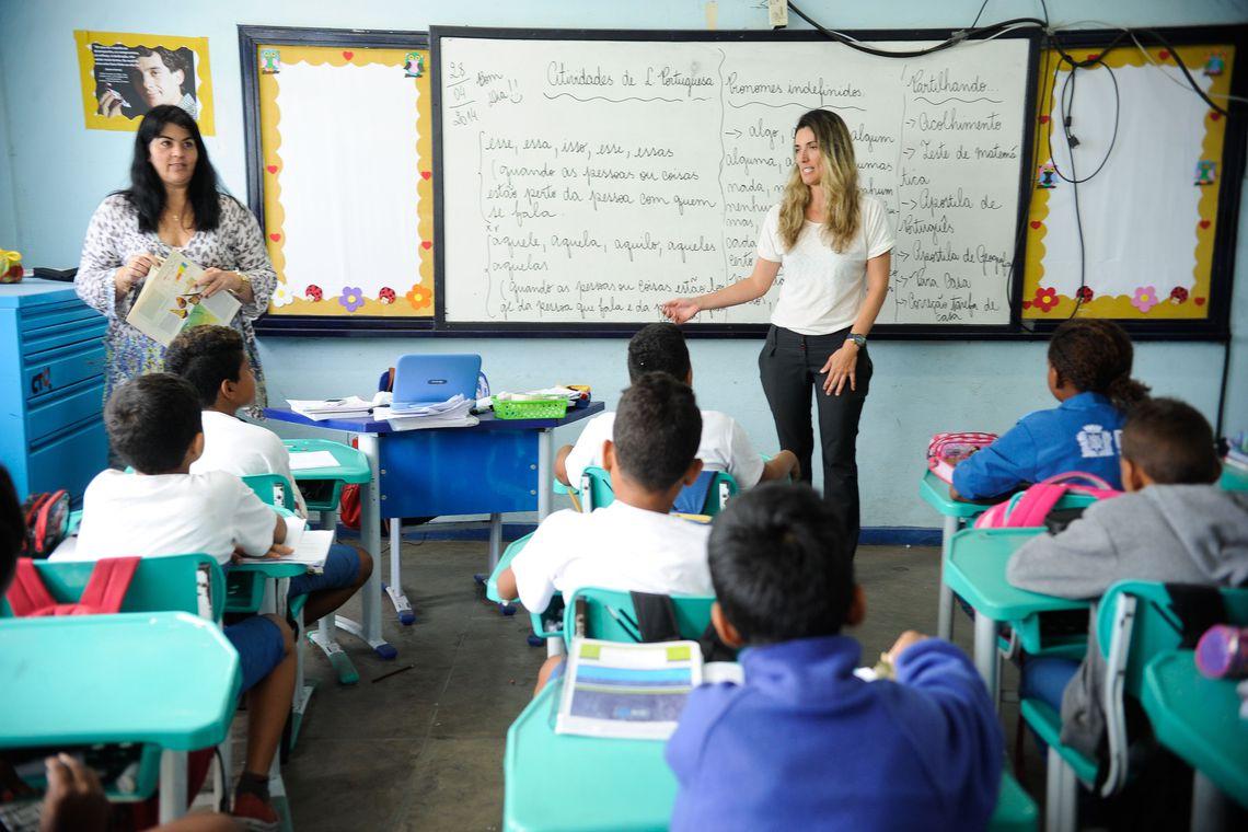 MPs fiscalizam escolas públicas do país para averiguar as instalações e o atendimento às crianças. Na foto, a Escola Municipal Professor Helena Lopes Abranches, em Gardênia Azul  (Tânia Rêgo/Agência Brasil)