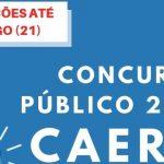 Concurso Público da Caern segue com inscrições até domingo (21)