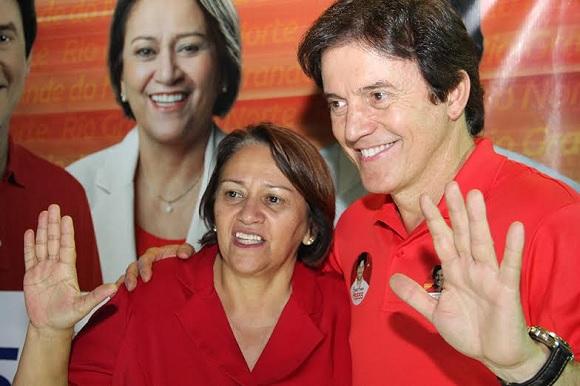 Robinson Faria parabeniza Fátima Bezerra pela eleição