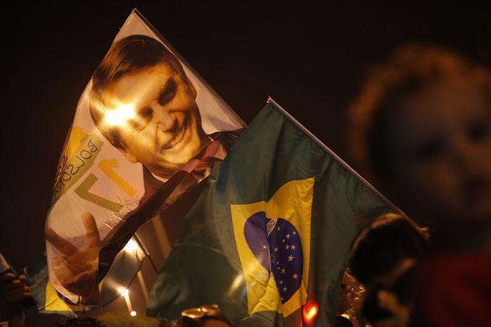 Comemoração da eleição do candidato Jair Bolsonaro (PSL) à presidência da República, na Barra da Tujuca.