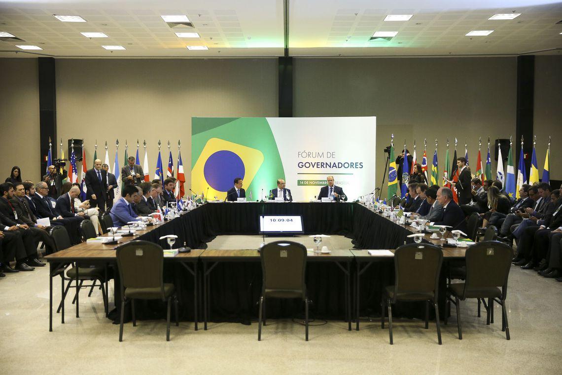 Governadores eleitos e reeleitos paticipam de Fórum em Brasília.