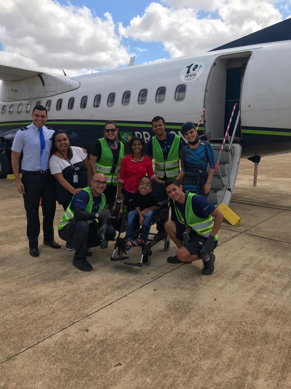 Paciente da Liga Mossoroense de Combate ao Câncer realiza sonho de viajar de avião
