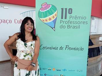Professora do RN é premiada na 11ª edição do Professores do Brasil