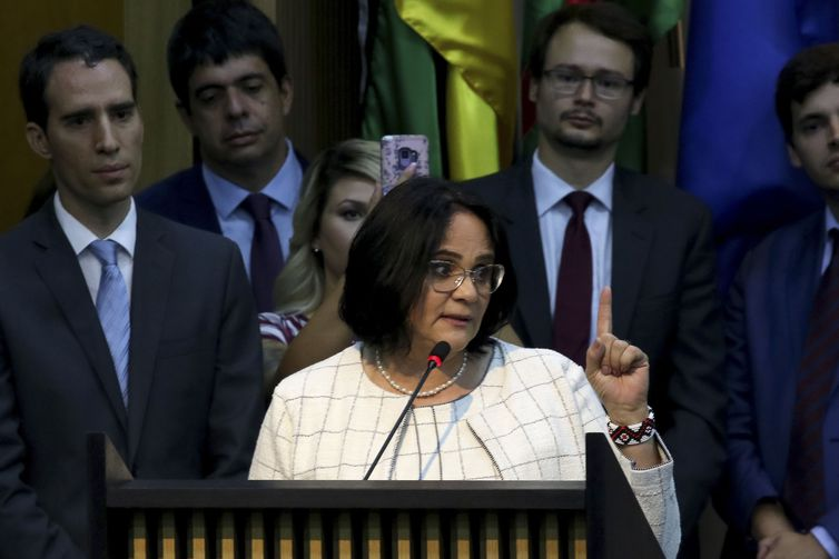 """""""Nenhum direito conquistado pela comunidade LGBT será violado"""", diz Damares Alves -Wilson Dias/Agência Brasil"""