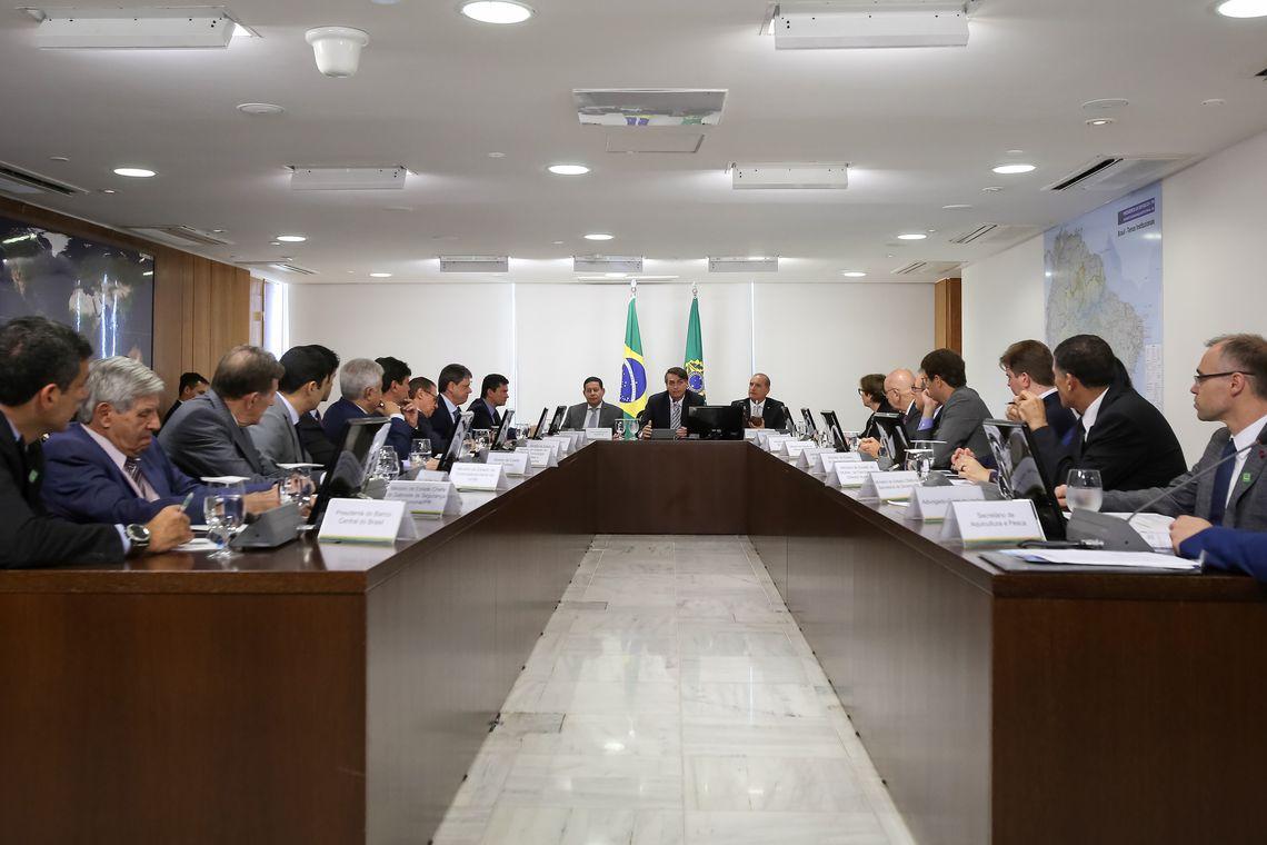 Presidente da República, Jair Bolsonaro durante 6ª Reunião do Conselho de Governo